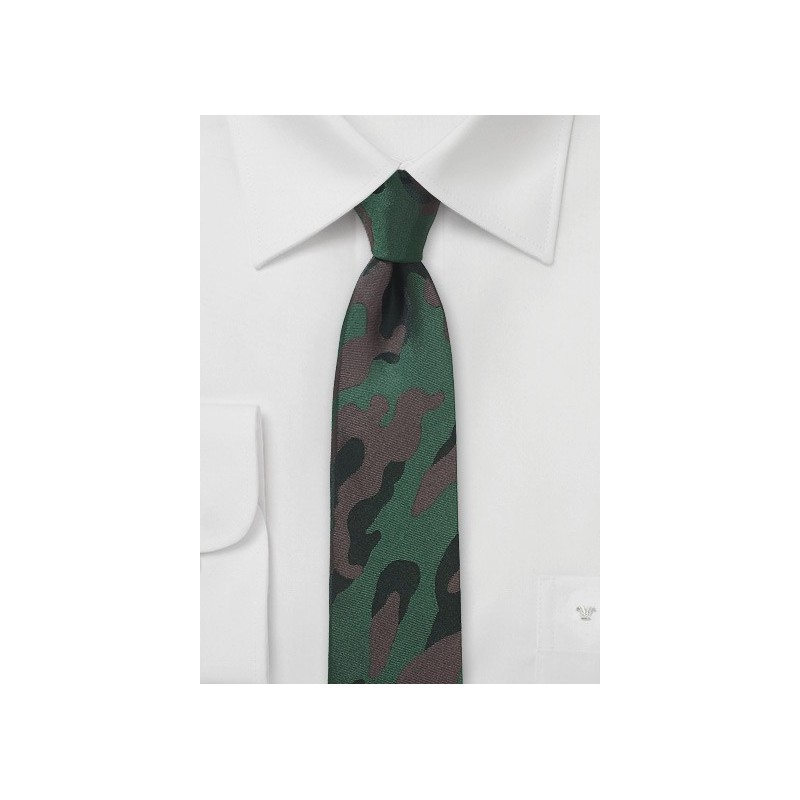 Classic Camo Skinny Tie