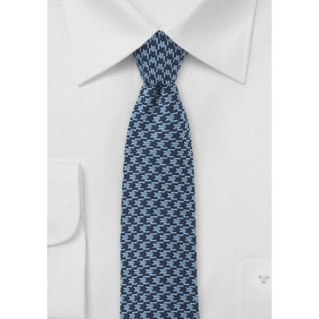 Blue Dogstooth Necktie
