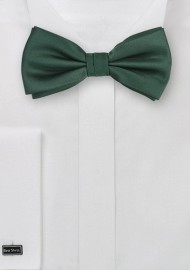 Dark Green Bow Tie in Pre-Tied Style