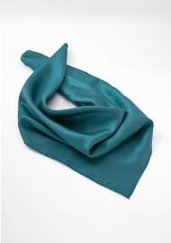 Women's Silk Scarf in Jade Green