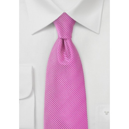 Orchid Pink Men's Tie in Extra Length