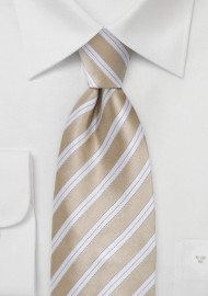 Sweet Almond Striped Tie in XL Size