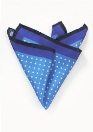 Navy, Blue, and White Polka Dot Pocket Square