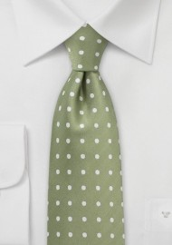 Soft Clover Green Polka Dot Tie