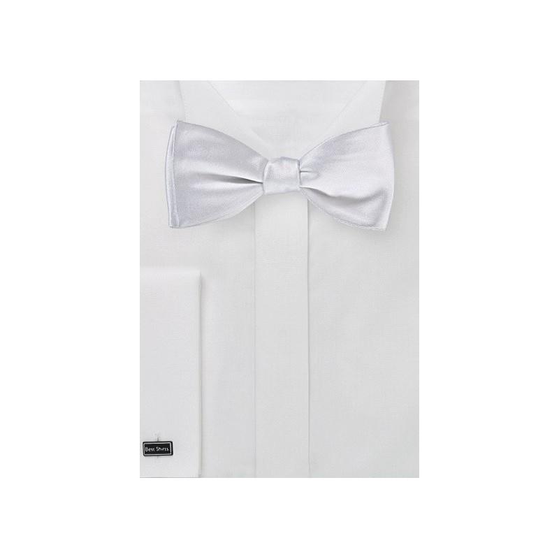 Bright White Self Tie Bow Tie
