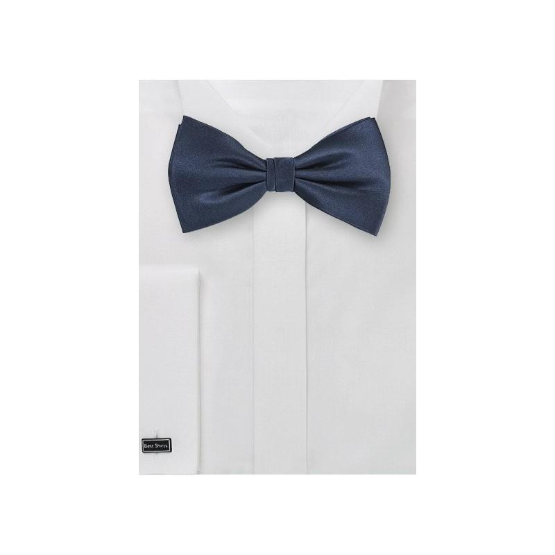 Dark Navy Colored Silk Bow Tie