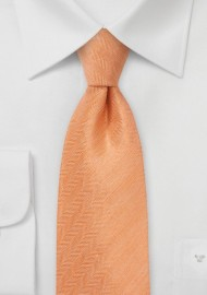 Men's Herringbone Tie in Tangerine