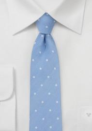 Soft Blue Polka Dot Tie