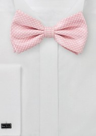 Soft Pink Pin Dot Bow Tie
