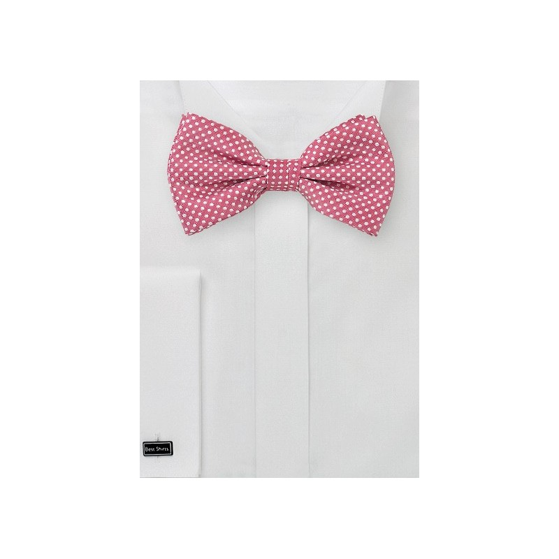 Dark Coral Colored Bow Tie