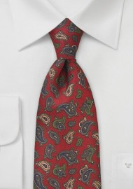 Vintage Paisley Silk Tie by Cantucci