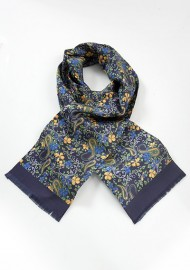 Bold Floral Silk Scarf for Men
