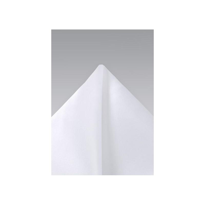 Bright White Silk Pocket Square