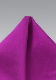 Silk Pocket Square in Dark Fuchsia
