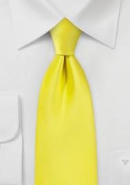 Canary Yellow Kids Sized Tie