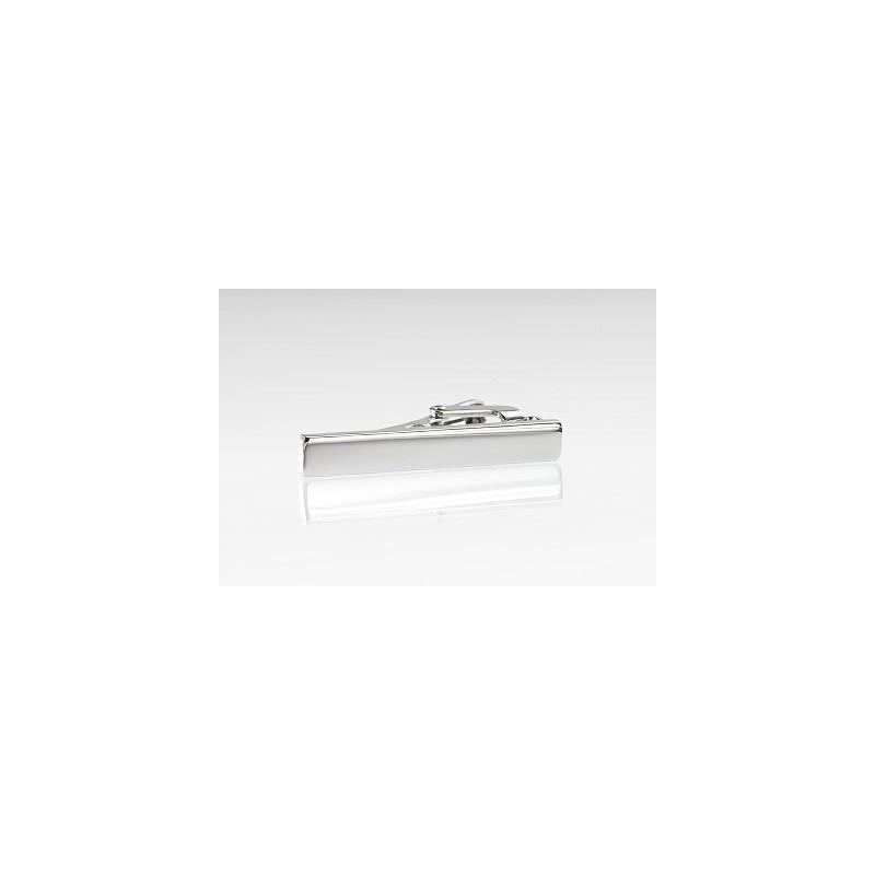 Elegant Silver Tie Bar in Narrow Width