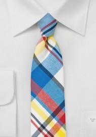 Bold Summer Madras Necktie