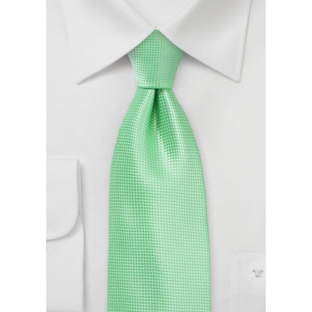 Bright Colored Tie in Summer Mint