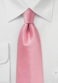 Summer Necktie in Flamingo Pink
