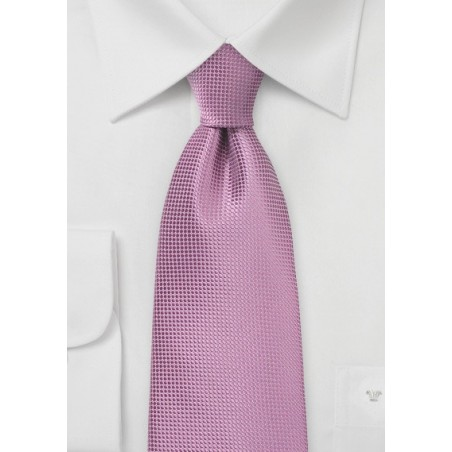 Solid Textured Tie in Antique Orchid