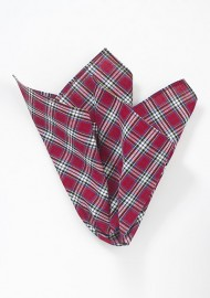 Cotton Plaid Pocket Square