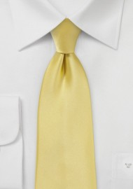 Solid Extra Long Tie in Butter