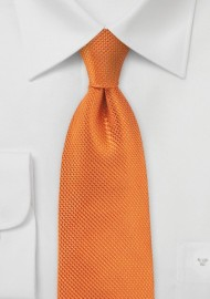 Tangerine Neck Tie in XL Length