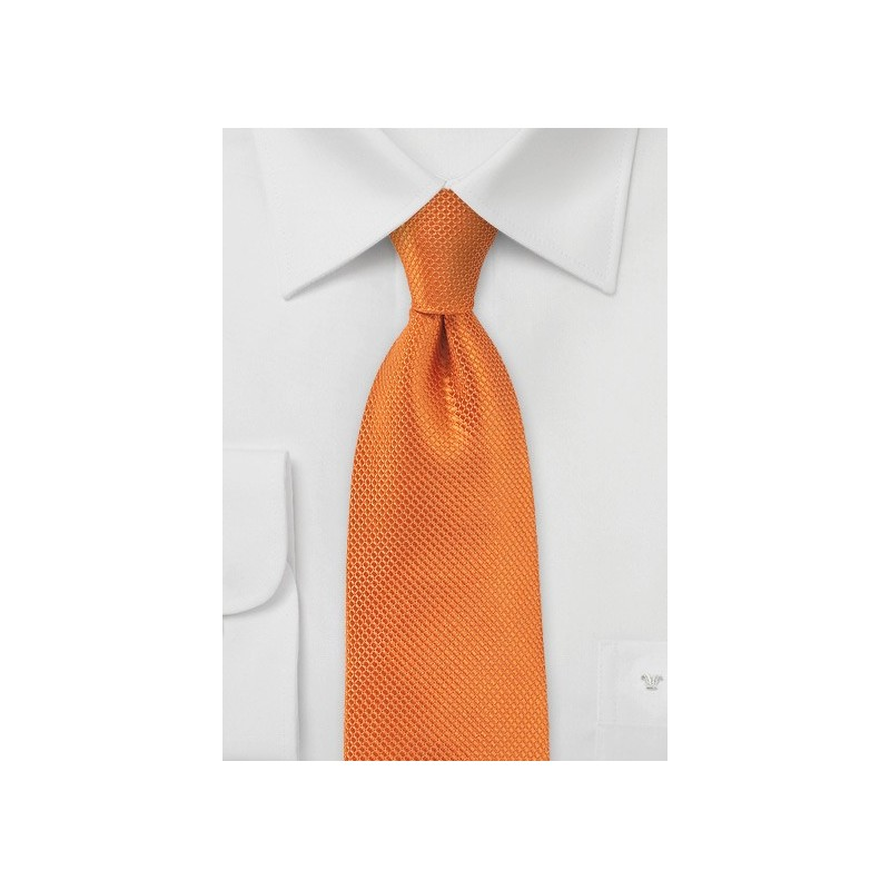 Tangerine Neck Tie in XL Length