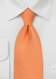 Apricot Orange Extra Long Tie