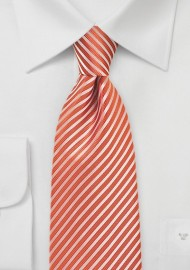 Mandarin Orange Striped Tie
