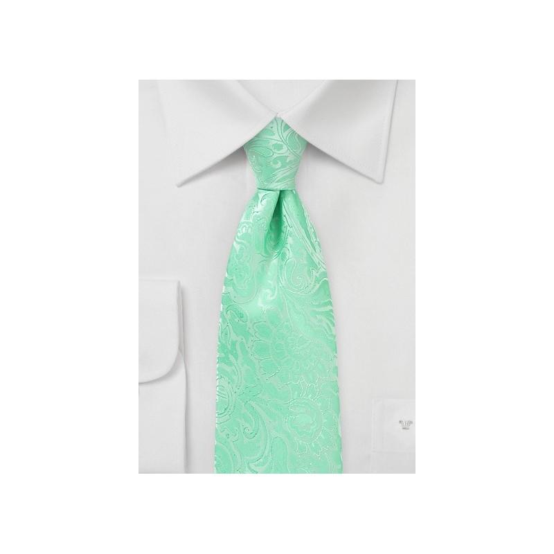 Spring Bud Green Summer Tie