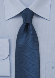 Trendy Check Tie in Patriot Blue
