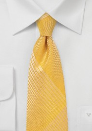 Mimosa Yellow Summer Plaid Tie