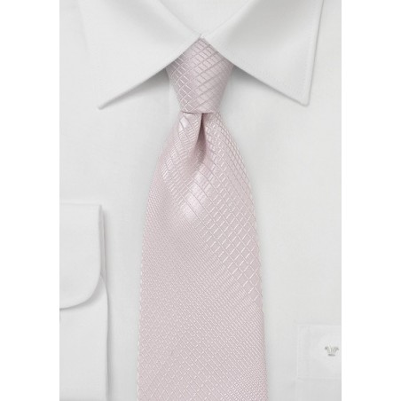 Soft Blush Hued Plaid Necktie