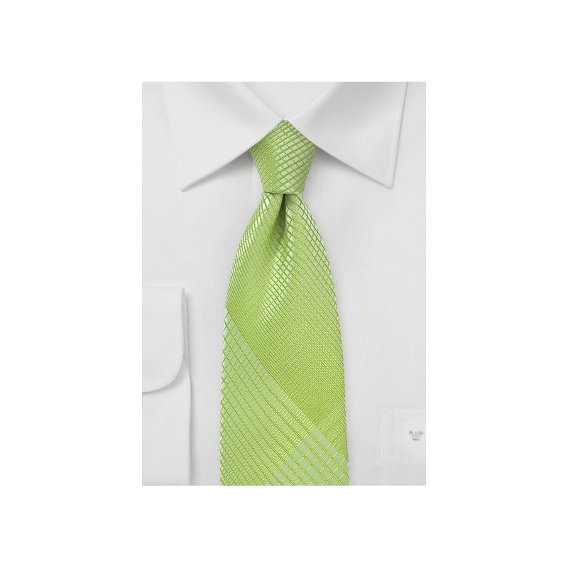 Trendy Plaid Tie in Daiquiri Green