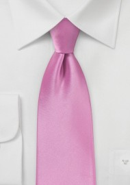 Orchid Pink Tie in Extra Long Length