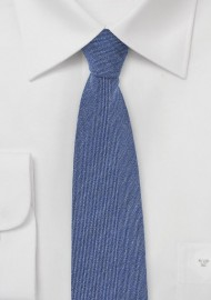 Light Denim Blue Wool Tie
