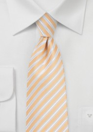 Sunburst Orange Striped Necktie