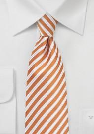 Elegant Summer Tie in Orange and White