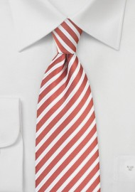 Spice Orange and White Striped Tie