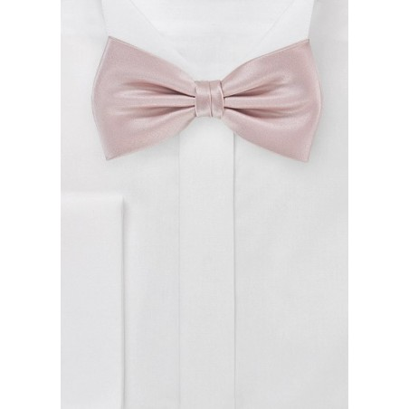 Elegant Formal Bow Tie in Blush Pink