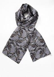 Bold Paisley Print Silk Scarf