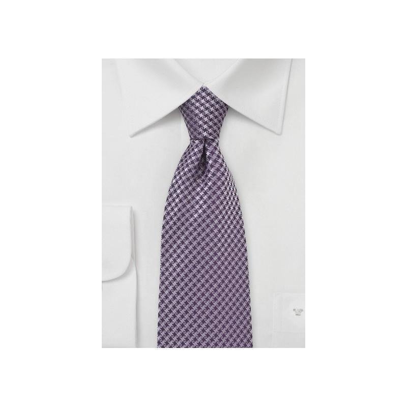 Micro Check Tie in Amethyst Purple