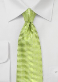 Solid Textured Tie in Parrot Green