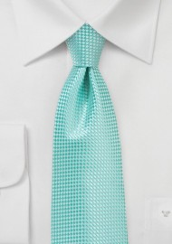 Textured Tie in Beach Glass Green