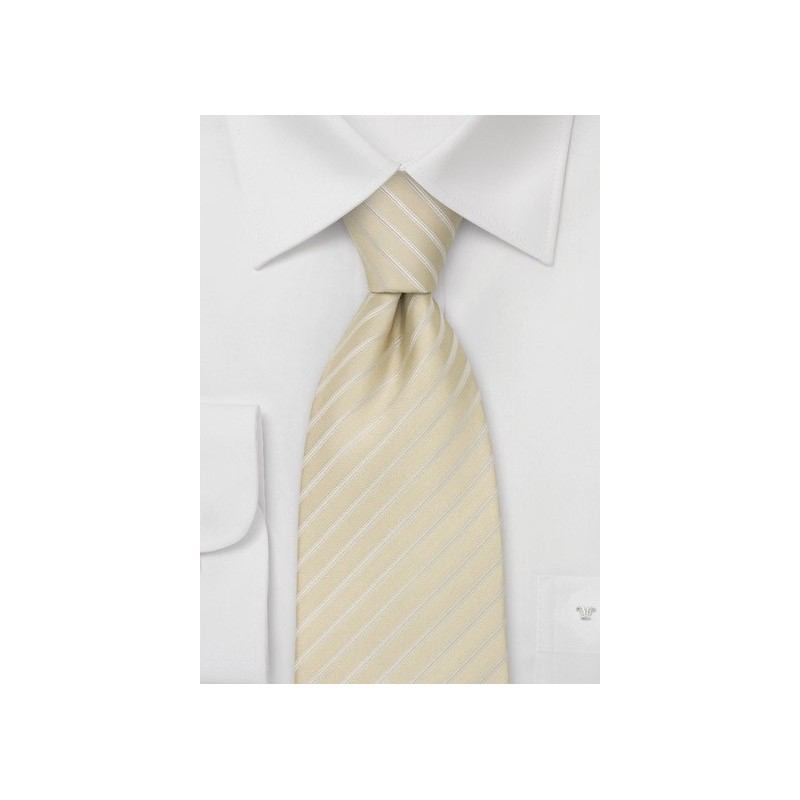 XL Wedding Tie in Light Champagne