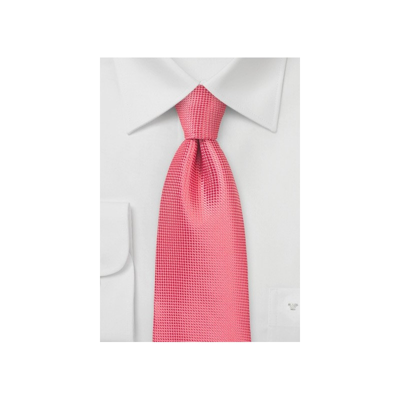 XL Length Summer Necktie in Coral Reef