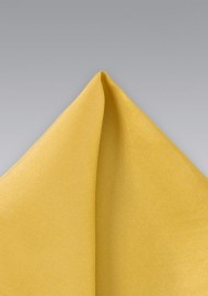Golden Yellow Silk Pocket Square