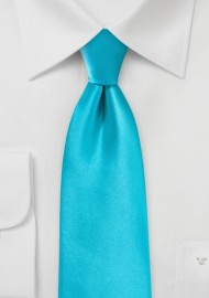 Bright Aqua Blue Kids Necktie