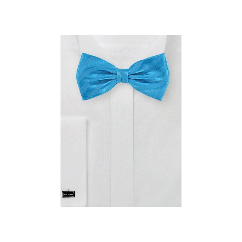 Men's Bow Tie in Malibu Blue